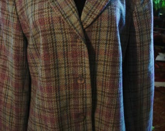 Vintage Light Blue Plaid Jacket