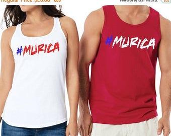ON SALE NOW Murica  #Murica 4th of July Tank Shirt / Patriotic / Usa Shirt / America Shirt