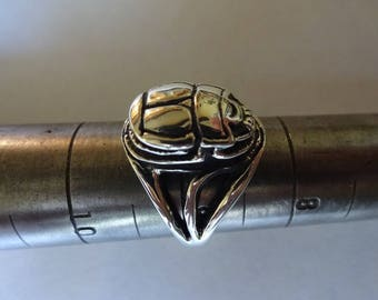Sterling Silver SCARAB RING, Eternal Life Beatle  Ring Size 5, 6, 7, 7.5, 8, 8.5,9,9.5, 10, 10.5, 11