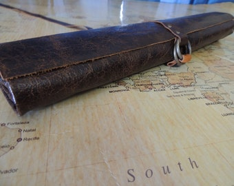 Handmade Leather Knife roll / chef roll / chef bag / tool roll 1