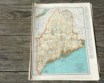Maine Map Etsy - Print us state map