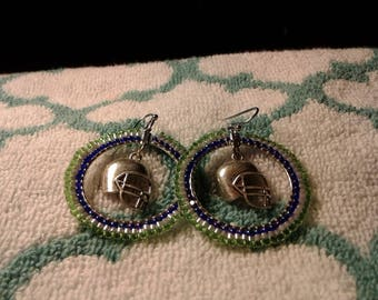 Seahawks Pride earrings