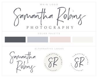 Mini Branding Package, Premade Photography Logo and Watermark, Branding Kit, Logo Set, Logo suite bp70