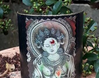 """Bracelet esclave d' inspiration bouddhiste ancien vintage chic """" Zen """" by Stampchrys"""