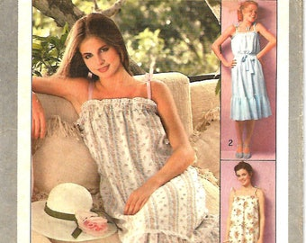 Simplicity 8512 Misses Jiffy Pullover Sundress And Tie Belt Pattern, 14-16 , UNCUT