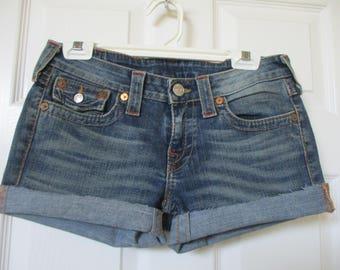 True Religion denim Cut off Jean Shorts size 29 Joey jeans FREE SHIPPING!!!!!