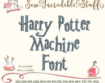 Harry Potter Machine Embroidery Font