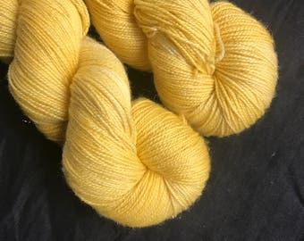 Sunshine hand dyed sparkly sock yarn