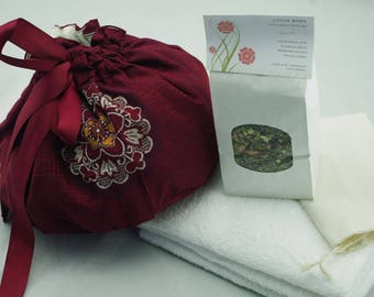 OOAK Vingate Kimono Silk Lotus Birth Kit - Lined