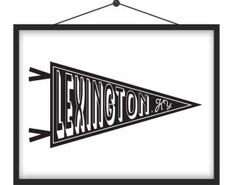 Lexington, KY Pennant Art Print