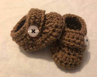 Baby Booties with buttons