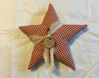 Christmas Star Ornaments - Christmas Bowl Fillers -  Christmas Ornaments - Primitive Ornaments - Rustic Christmas - Farmhouse Style