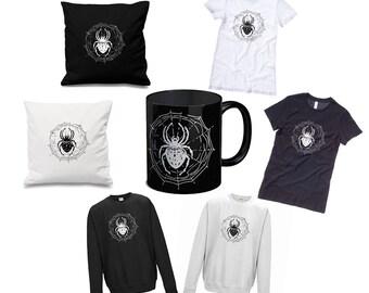 SPIDER WEB Gift Bundle - Mug, T-Shirt, Jumper, Cushion Cover