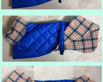 Readymade whippet coats various sizes royal blue