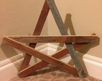 Rustic Star Wall Decor, Reclaimed Wood Star, Repurposed Wood Star, Rustic Decor, Star Wall Hanging, Reclaimed Wood Decor, Wood And Tin Star