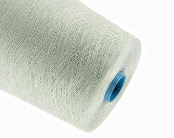 15%SALE Light green yarn natural linen  thread flax 1ply 2ply  3ply yarn crochet weaving knitting yarn