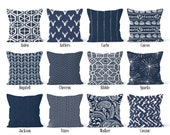 Navy Blue Pillow Cover Dark Blue, Decorative Throw Pillow Covers, Euro Pillow Sham 16 x 16, 18 x 18, 20 x 20, 22 x 22, 24 x 24, 26 x 26