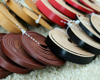 Leather Strap, 8mm Wide, Organic Leather Straps, Leather Cord, Genuine Leather, Necklace Cord, Bracelet Cord, 1 Yards, 5 Yards