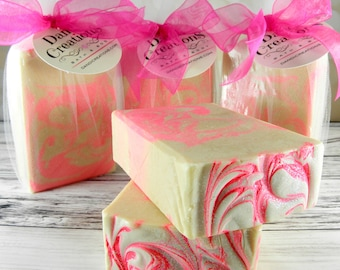 PINK BERRY goat milk soap-wholesale soap-soap bar-bar soap-handmade soap-gift women-cold process-wholesale-woman gift-gift for her-soap