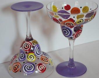 Festive Margarita Glasses