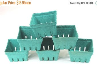 On Sale 70 Bargain Bin Green Pint Baskets, Pulp Berry Baskets, Recyclable Party Favor Boxes Wedding Gift Baskets, Treats Baked Goods Party F