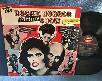"""RARE, Vintage, """"Rocky Horror Picture Show"""" Original Soundtrack, Vinyl LP, Record, First Press, Tim Curry, Meatloaf, Transexual Transvestite"""