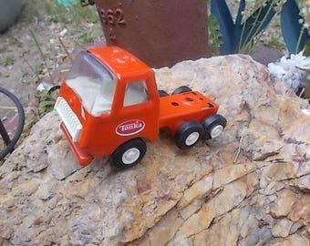 Tonka Red/Orange Truck Small, Vintage Tonka Truck, Toy Truck, Small Toy Truck, Vintage Toy Truck, Toys, Metal Truck,