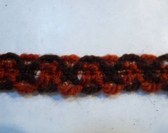 WOOL BRAID TWO COLORS BROWN AND COGNAC