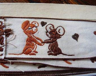 STRIPE COTTON EMBROIDERED LITTLE MICE