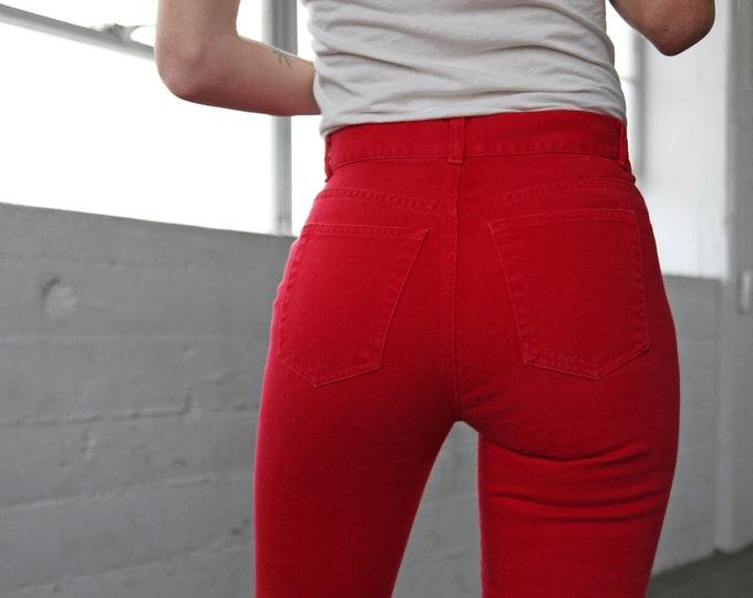 DKNY Red High Waist Jeans