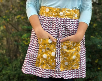 Purple Cotton Apron