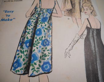 Vintage 1960's Vogue 5856 Dress and Stole Sewing Pattern Size 14 Bust 34