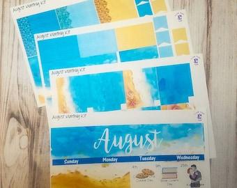 August monthly sticker kit for the Erin Condren life planner