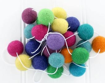 Felt Ball Garland Spring Decor, Pom Pom Garland, Easter Decor, Rainbow Felt Ball Garland, Easter Bunting, Custom Felt Ball Garland, Easter