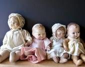 Primitive Vintage Baby Dolls, Creepy Antique Baby Dolls, Victorian Dolls, Scary Baby Dolls, Altered Art, Mixed Media Art, Composition Dolls