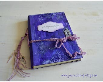 Fairytale diary personalized handmade guest book weddings gift  junk journal enchanted book boho wedding once upon a time journal blank book