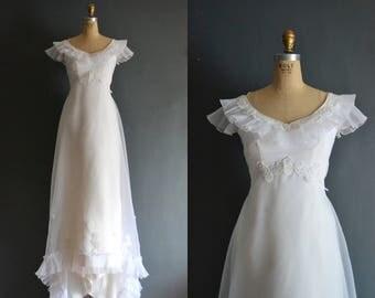 Hailey / 70s wedding dress / 1970s wedding dress