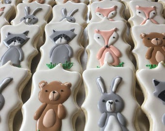 12 Woodland Critter Cookies
