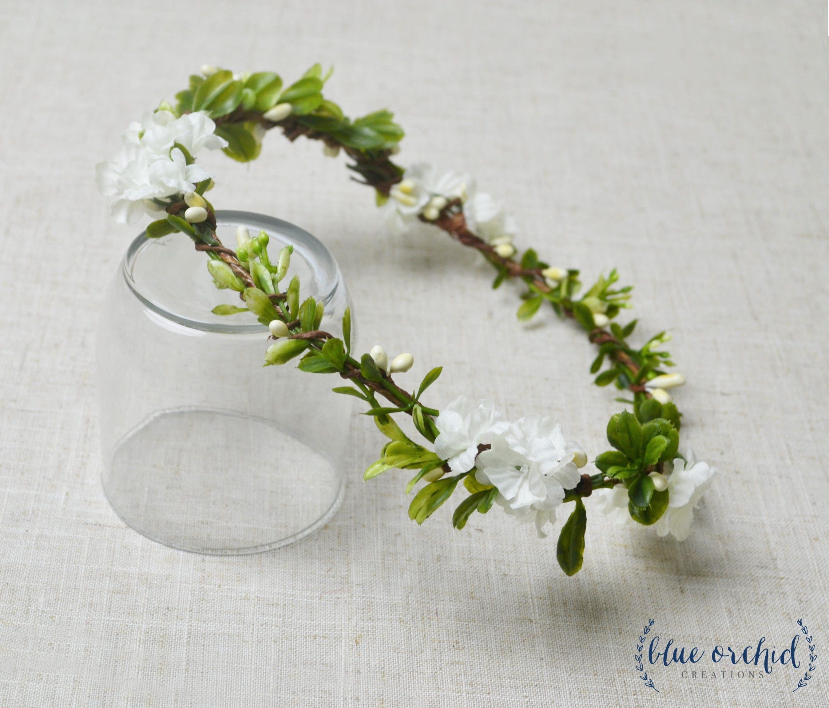 Flower Crown Boho Wedding Green Flower Crown Floral Crown Simple
