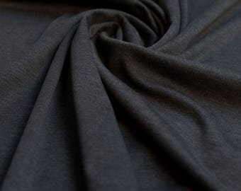 Dark Grey Ponti Roma 4 way Stretch Heavy Jersey Fabric - sold by the metre - UK SELLER (L1)