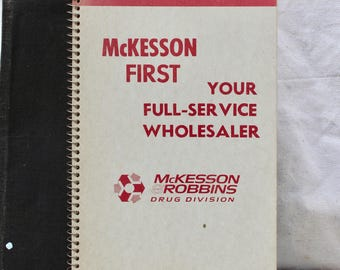 Vintage 1930's 1940's McKesson and Robbins Sales Rep Pharmacist NoteBook Want Book