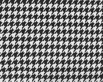 CORDUROY Fabric-Black and White Houndstooth Corduroy Fabric-Fabric by the Yard-Apparel Fabric-Cotton corduroy-Houndstooth Fabric