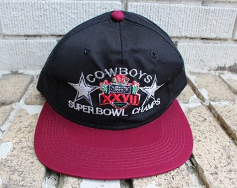 Deadstock DALLAS COWBOYS Snapback Hat Super Bowl xxvii 27 Champs Snapback Hat vintage cowboys hat official NFL football sports athletic
