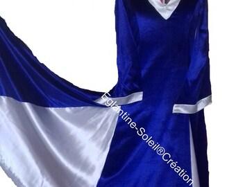 """Medieval RLM riding dress"" WATERCOLOR """"custom"