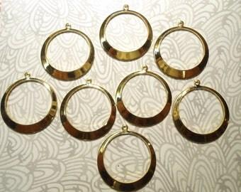 8 Goldplated 38mm Hoops Earring Hoops