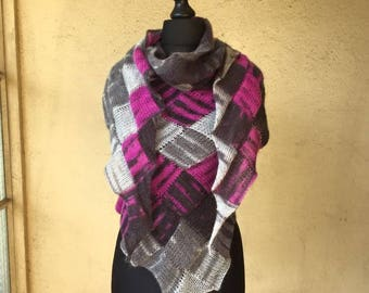 Handmade knitted shawl