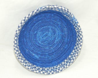 Clothesline Fabric Coiled Bowl