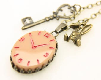 Necklace horloge vintage temps perdu