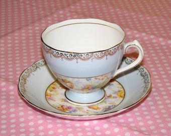 Roslyn Fine Bone China Tea Cup and Saucer