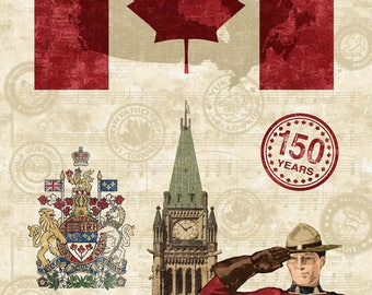 Canadian Mountie panel Digitally printed
